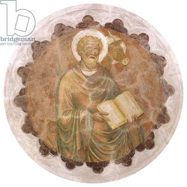 Saint Luke, by Master from Velo d'Astico, Battista da Vicenza, 1400 - 1438, 15th Century, fresco
