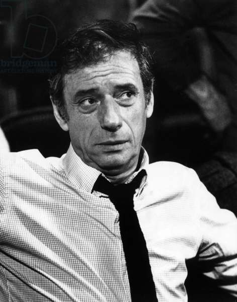 Portrait of the French singer and actor Yves Montand. 1974