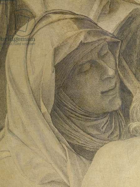 Lamentation over the Dead Christ (Compianto sul Cristo morto), by Giovanni Bellini, 1500, 16th Century, tempera on board, 74 x 118 cm