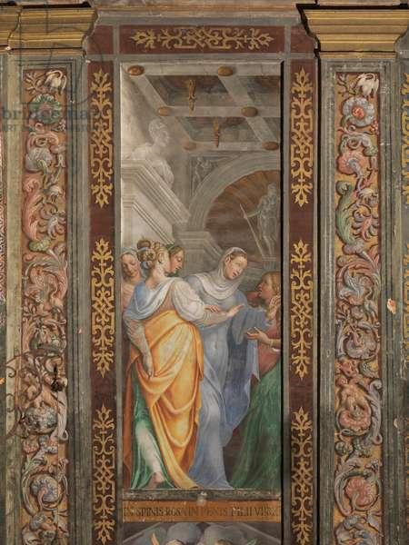 Deposition, Madonna and Pious Women, 16th century (fresco)