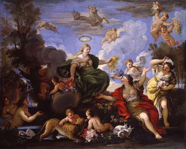 Triumph of Flora or Primavera, copy after Luca Giordano, 16th century, oil on canvas.