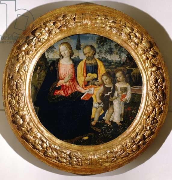 Holy Family with infant Saint John, 15th century