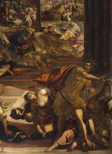 The Slaughter of the Innocents, by Jacopo Robusti known as Tintoretto, 1583, 16th century, oil on canvas.