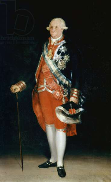 Portrait in foot of Charles IV (oil on canvas)