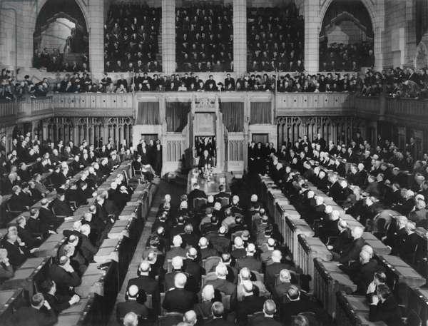 Winston Churchill speaking to the Canadian Parliament, Ottawa, Canada, 1905