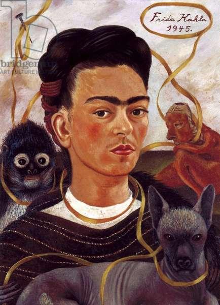 Autoportrait  in 1945. (oil on masonite)