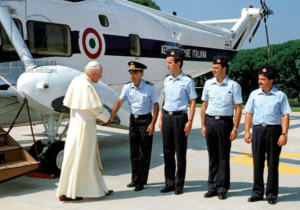 Pope John Paul II in Castel Gandolfo, Italy