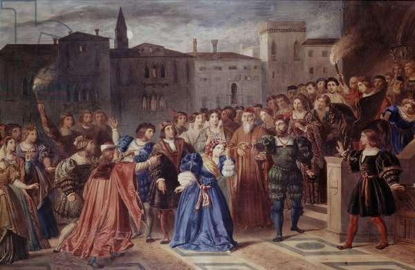 Scene of Confrontation (Scà¨ne de l'affront), by Louis Boulanger, 19th Century
