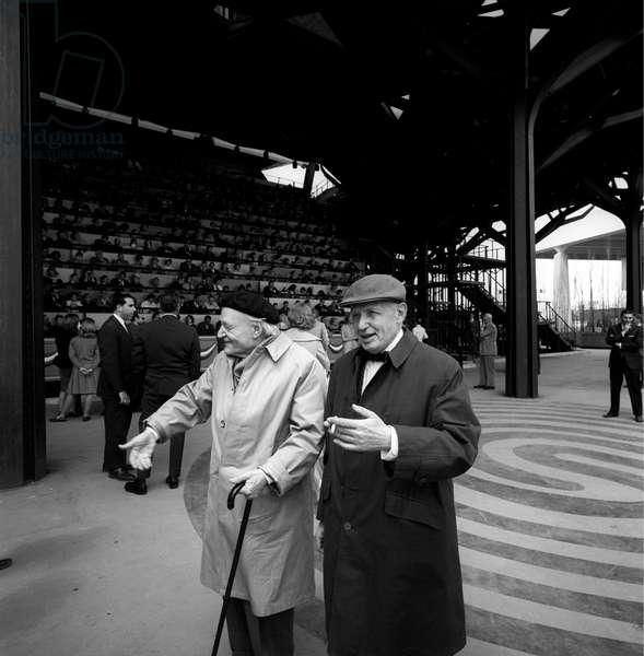 Giuseppe Ungaretti and Nando Sampietro at the World Fair of New York, New York, United States