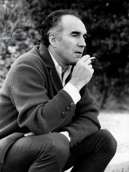 Michel Piccoli smoking a cigarette