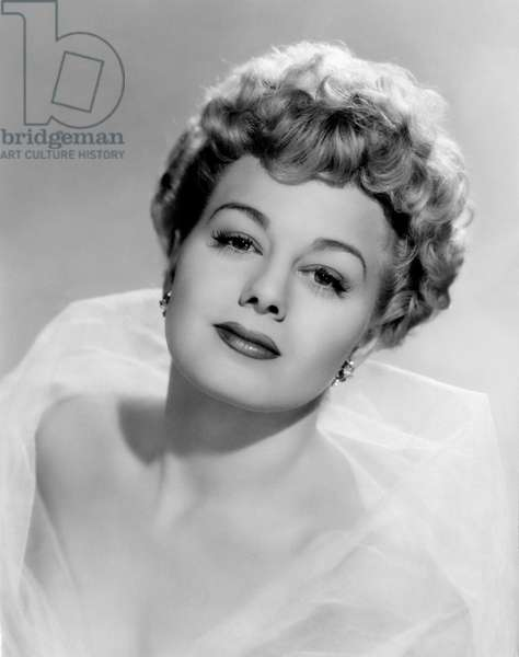 An intense close up shoot of an ethereal Shelley Winters