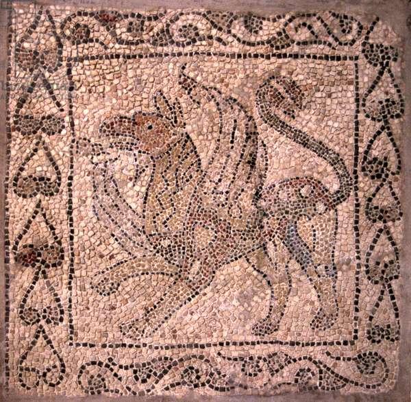 Griffin, by Unknown Artist, 13th Century, mosaic floor