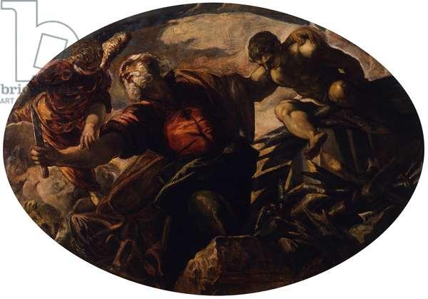 The Sacrifice of Isaac (Il sacrificio di Isacco), by Jacopo Robusti known as Tintoretto, 1577, 16th century, fresco.