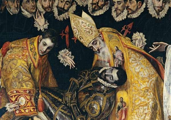 The Burial of the Count of Orgaz (El Entierro del Conde de Orgaz), by Domenico Theotokòpulos known as El Greco, 1586, 16th Century, oil on canvas