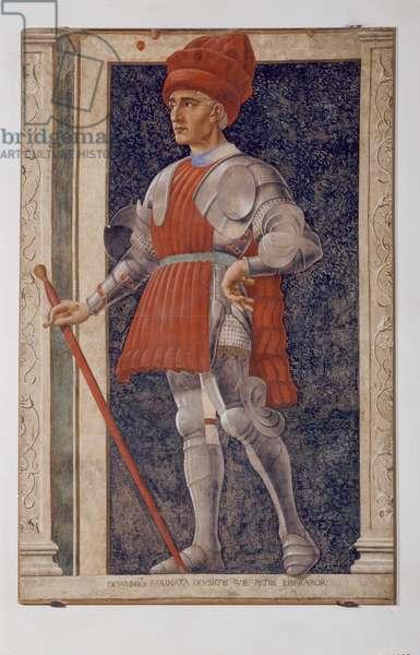 Farinata degli Uberti, 1448 (fresco ripped and transferred on canvas)