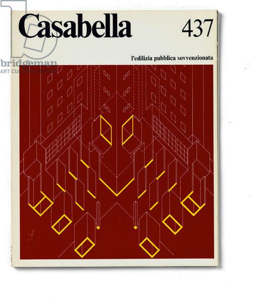 Cover of Casabella, N. 437, June 1978, 20th Century, graphic, 31 x 24,5 cm