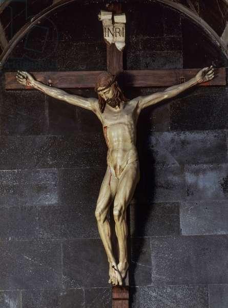 Crucifix, 1410-1415 (polychrome wood)