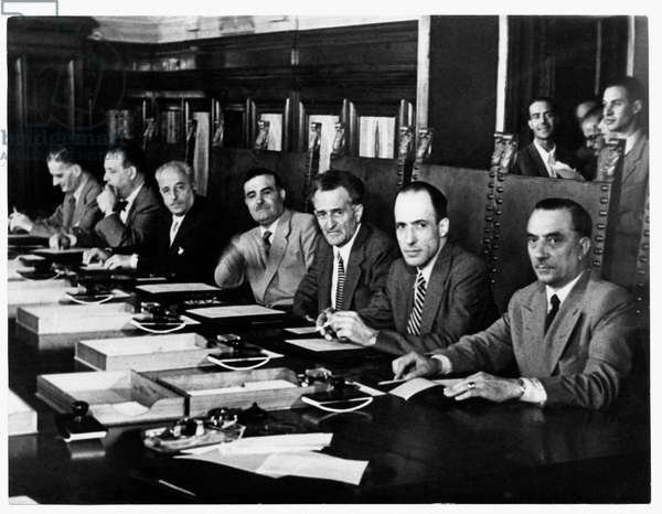 First Council of Ministers of the Government of Italian Republic, 1946 (b/w photo)