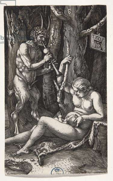 The Satyr Family, by Albrecht Durer, 1505, 16th Century (engraving on laid paper)