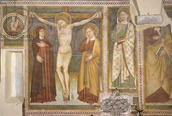 Crucifixion, St. Bartholomew, Master from Schio, 14th Century, fresco