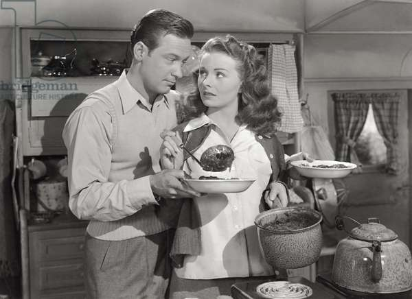William Holden and Jeanne Crain, 1948 (b/w photo)