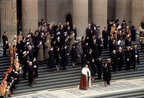 Royals and heads of State at Winston Churchill's funeral, 1965 (photo)