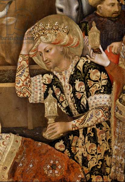 Adoration of the Magi detail of king, 1423 (tempera on panel)