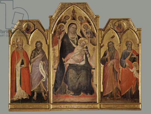 Madonna and Child Enthroned with Angels and Saints, 1391 (tempera and gold on board)