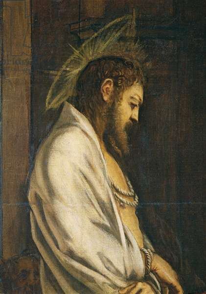 Jesus Christ in front of Pontius Pilate (Cristo davanti a Pilato), by Jacopo Robusti known as Tintoretto, 1566 - 1567, 16th Century, oil on canvas