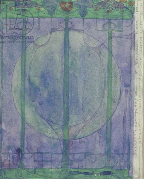 The Tree of Personal Effort, by Charles Rennie Mackintosh, 1896, 19th century, pencil and watercolour, 32 x 25 cm
