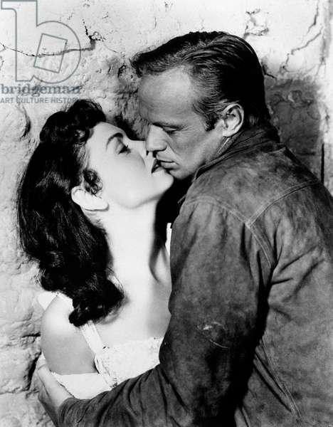 Donna Reed and Richard Widmark in Backlash