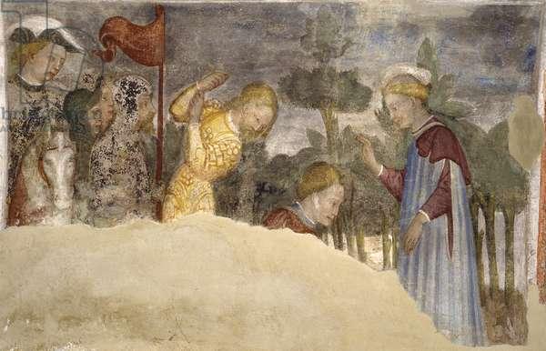 Stories of Saint Bassiano, by Bonifacio and Benedetto Bembo, 15th Century, fresco