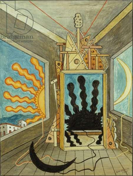 Metaphysical Interior with Lifeless Sun, 1971 (oil on canvas)