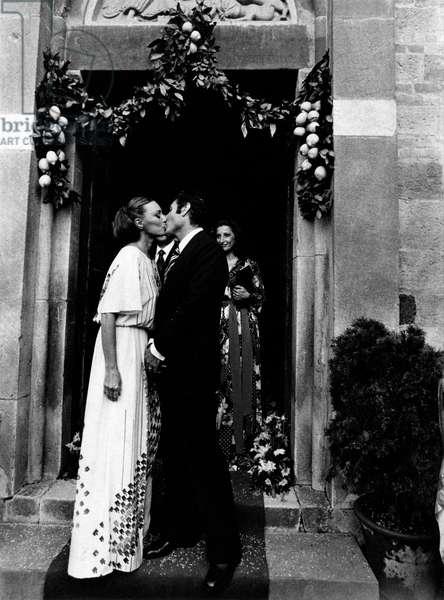 Lydia Alfonsi kisses Vincenzo Messina on their wedding day