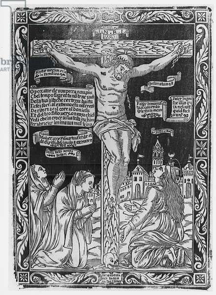 O sinner to sin no more (O peccator di non peccare piu), by Paolo Gadaldini, 16th Century (xylography)
