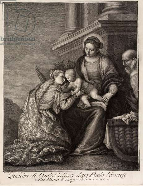Holy Family with Saint Catherine, 1562 (engraving)