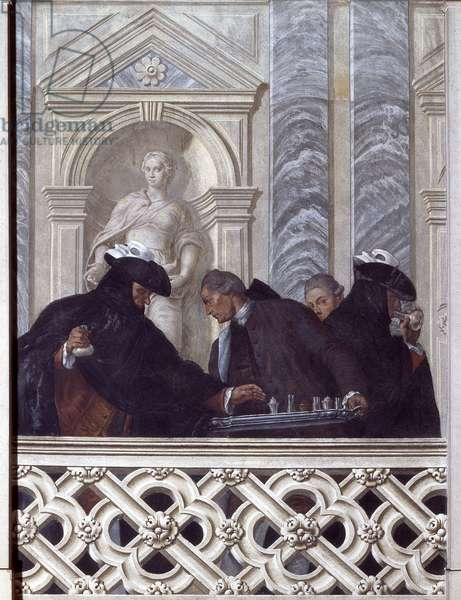 Scene of reception, by Michelangelo Morlaiter, 1770, 18th century, fresco.
