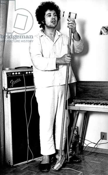 Lucio Battisti wearing pyjamas