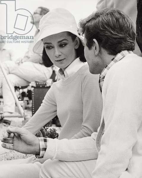 Audrey Hepburn and Albert Finney (b/w photo)