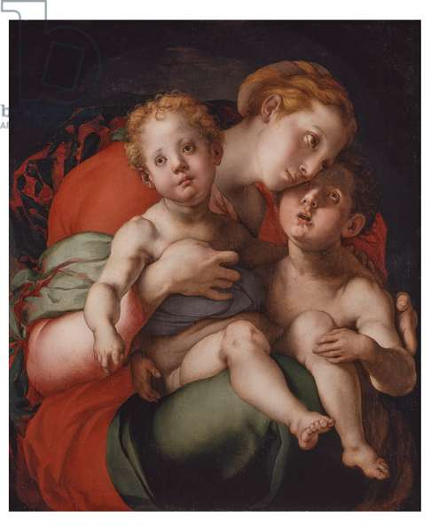 Madonna with Child and Little Saint John, c.1534-1536 (oil on board)