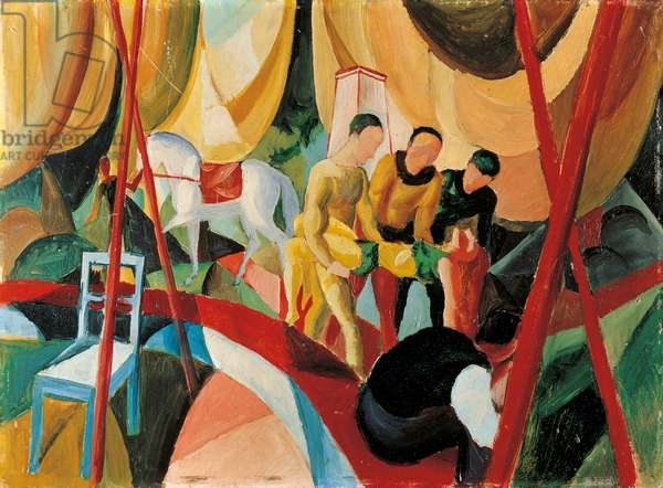 Circus, 1913 (oil on canvas)
