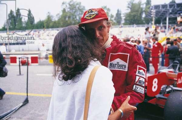 Niki Lauda greating a woman
