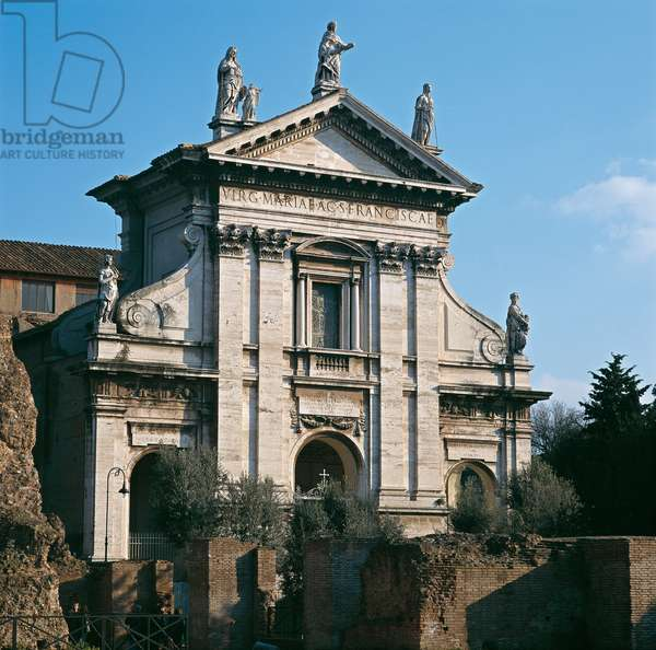 Church of Saint Francesca Romana (Santa Marian Nova) (Chiesa di Santa Francesca Romana (Santa Maria Nova), by Carlo Lambardi, 1605 - 1621, 17th Century, travertine