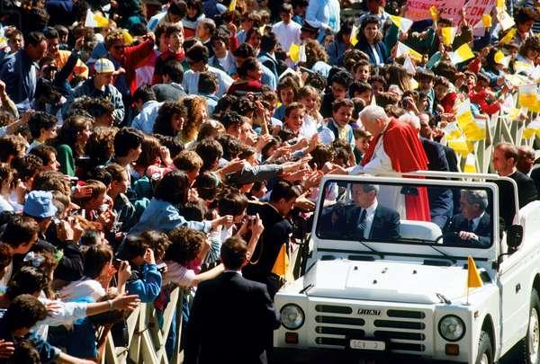 Pope John Paul II in St. Peter's Square, Vatican City, Vatican City State