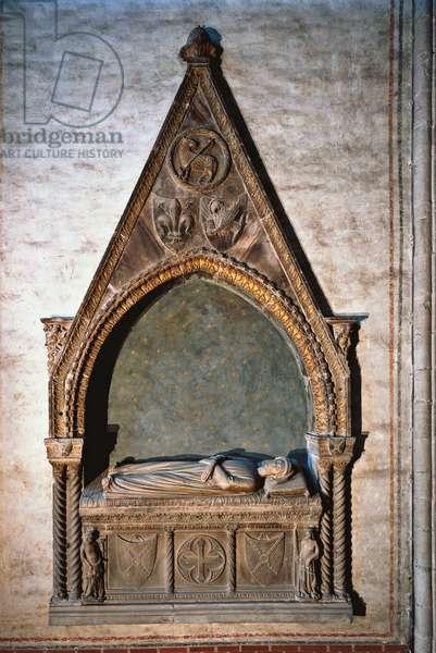 Tomb of Duccio degli Alberti (Tomba di Duccio degli Alberti), by Andriolo De Sanctis (De Santi), 14th Century