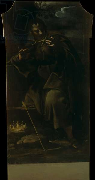 St. Louis Archbishop of Toulouse, by Carlo Bononi, beginning of the 17th Century, oil on canvas