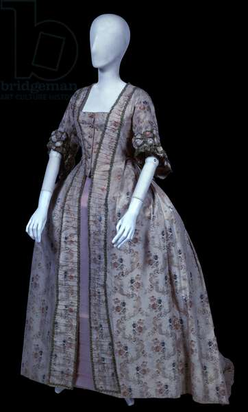 Women's Overcoat - Andrienne, by Unknown Artist, 1780, 18th Century, silk fabric