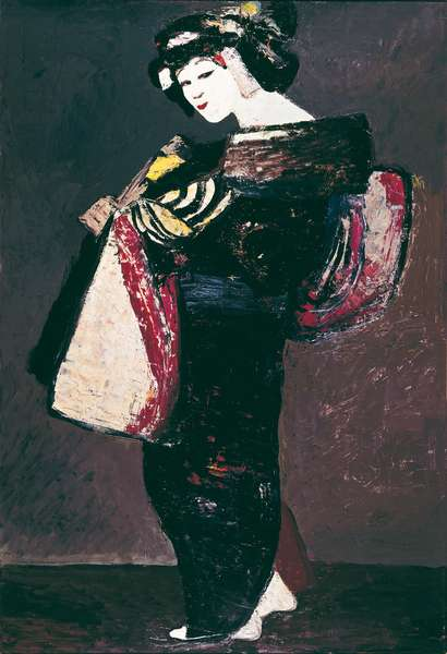 Character of Kabuki Theater, 1969 (oil on masonite)