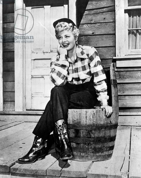 Shelley Winters dressed as a cowboy,, 1940