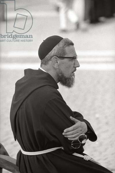 Monk in St. Peter's Square in Rome